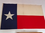 "Texas Lone Star Flag, approx 75""x46..."