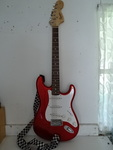 Fender Strat Squire guitar and case...