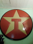 "Large Texaco sign, approx 67"", plea..."