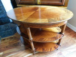 Oval 3-tier 'crotch' table, great p...