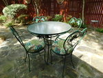 Great patio table and 4 chairs, app...