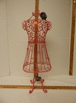 Pink wire decorative dress form...