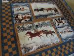 HAND CRAFTED HORSES IN WINTER QUILT