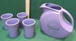 PURPLE FIESTA 60TH ANNIVERSARY PITCHER WITH MATCHING CUPS
