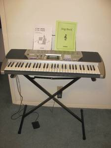 CASIO CTK-496 SONG BANK KEYBOARD WITH STAND, CORD, PEDAL