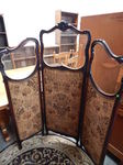 Vintage 3-panel screen w/glass on t...