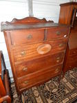 Vintage chest on casters, approx 33...