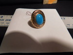 Turquoise/gold ring...