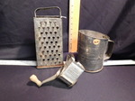 3 pcs: Vintage cheese grater, Frenc...