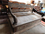 Large antique dowry bed/chest, heav...