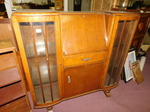 1920s secretary w/glass-front sides...