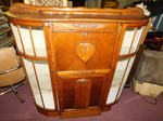 Vintage curved sides cabinet w/mosa...