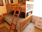 Wood staggered bunk beds in great s...