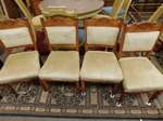 Set of 4 vintage dining chairs w/ca...