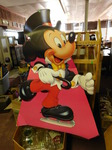 Mickey Mouse cardboard display...